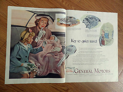 1950 General Motors GM Ad Cadillac 1950 Champion Spark Plugs Ad Indy 500