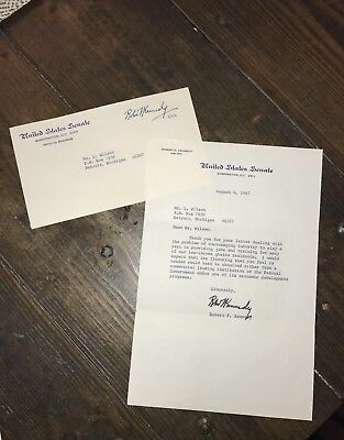 Robert F. Kennedy signed letter and envelope