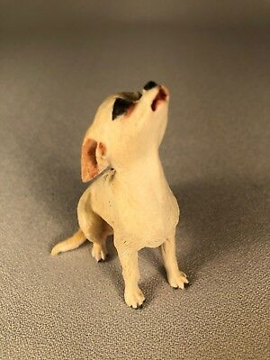 """""""anita"""" Chihuahua Dog Figurine, England, Signed & Dated 1995, Sits Looking Up"""