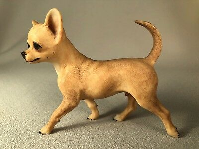 """anita"" Chihuahua Dog Figurine From England, Signed & Dated 1986, Walking Pose"
