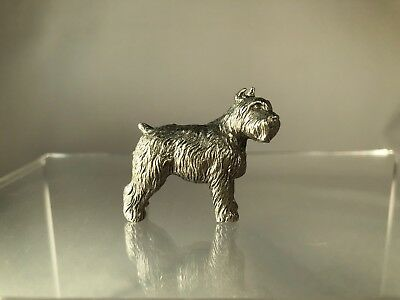 Rawcliffe Pewter Bouvier Des Flandres Miniature Figurine, Highly Detailed