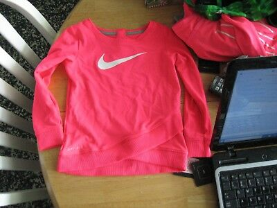 NIKE Infant/Toddler Girls Long Sleeve DRIFIT Pullover Shirt,polystr/elastane