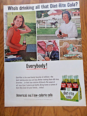 1965 Diet-Rite Cola  Ad Who's Drinking?  Everybody!