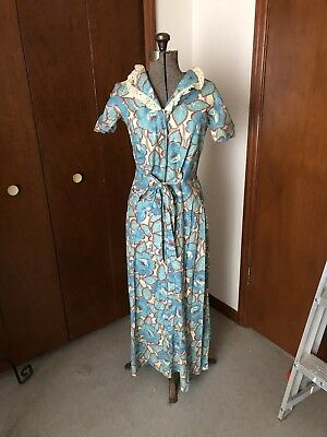 Vintage 1940's-50's Dress W/ Original Tags The Broadway Dept Store California