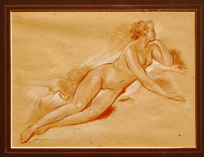 Old Master Boucher, Nude Drawing.   Free Shipping