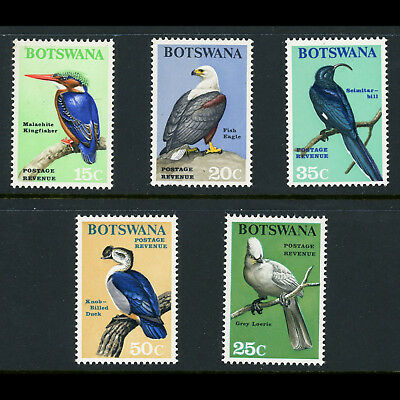 BOTSWANA 1967 Birds. 15c to 50c. SG 227-231. Mint Never Hinged. (BH382)
