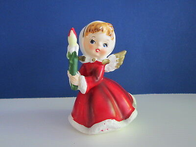 Vintage Napcoware X-6984 Christmas Angel with Candle  Japan