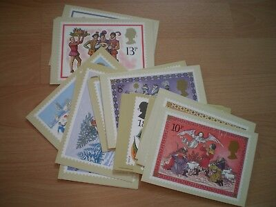 Post Office Picture Card Postcards - Collection Of Christmas Stamps Cards
