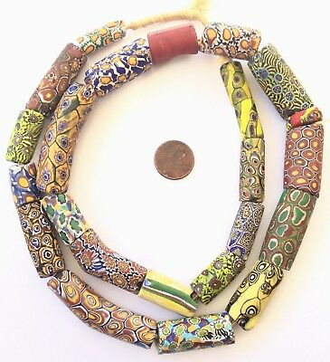 Variety Old Rare Antique Venetian Millefiori glass African trade beads