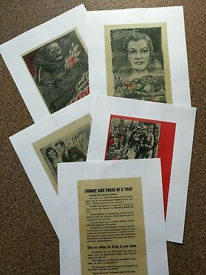 WW 2 Propaganda Leaflets. D- Day. Battle of the Bulge. 90th Division.