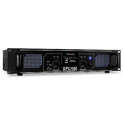 Amplificatore Hi Fi Finale Audio Stereo Mp3 Player Usb Sd Aux Radio Dj Rack 19""