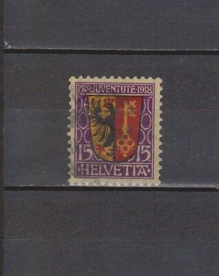 Switzerland / Suisse - 1918 - Pro-Juventut - 15+5 Stamp (2 Scans-Small Hole)