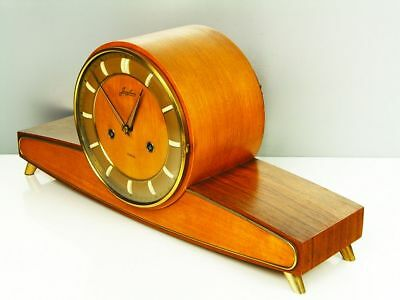 Beautiful Later Art Deco  Chiming Mantel Clock From Junghans