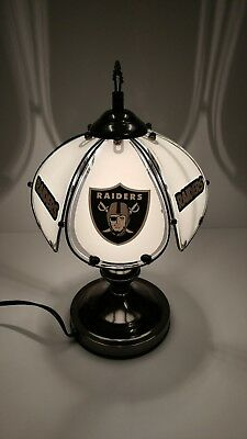 Oakland Raiders Table/desk lamp desk accent sports 3 way Touch lamp Light