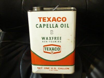 Vintage Texaco Oil Co. Metal 1 One Gallon Can 1967 Capella Oil B man cave shop