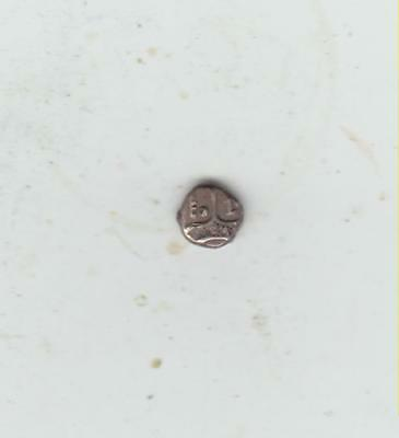 Unidentified Tiny Ancient Celtic Geometric Type Silver Coin, 6mm Diameter