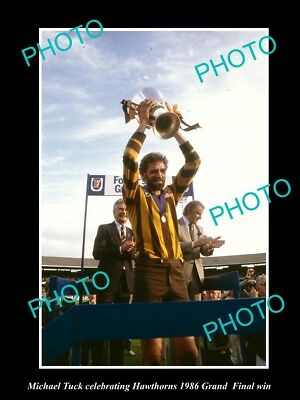 Old Large Historic Photo Of Michael Tuck 1986 Hawthorn Fc Grand Final Win