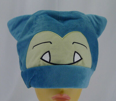 Pokemon Snorlax Plush Hat Adult Cosplay Beanie Cap Toboggan New without Tags