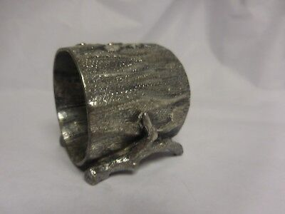 Figural Napkin Ring Silver Plated Featuring A Tree Trunk & Twigs