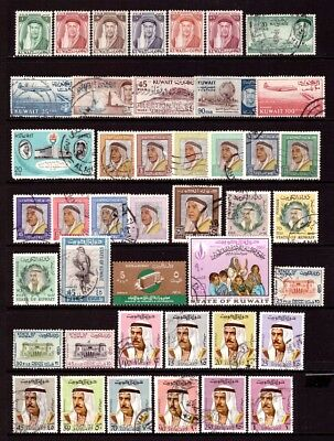 KUWAIT 1961-69 : Mint & used selection - values to 1 Dinar.