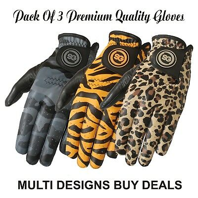 SG Men cabretta leather printed golf gloves Camo Leapord Tiger Clearance Sale