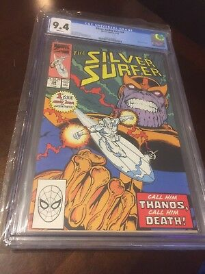 Silver Surfer #v3 #34 Cgc 9.4 White Pages Return Of Thanos Nr