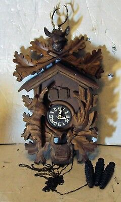 Vintage THORENS Movement Blue Danube 1-Day CUCKOO CLOCK Regula Bachmaier Germany