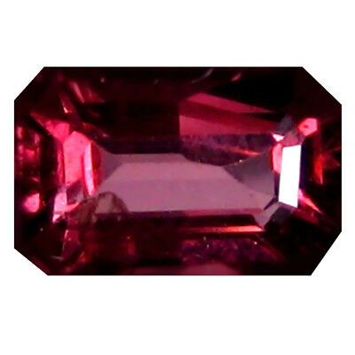 1.32 Ct AAA+ Merveilleux Octogone Forme (7 X 5 mm) Rosé Rouge Grenade Rhodolite