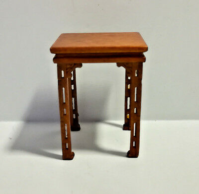 Finished in walnut 1:12 Scale Miniature Wooden Cross End Table For Dollhouse