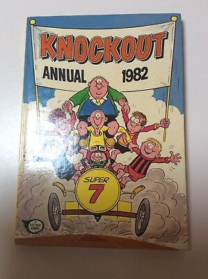 Boy's Annual 1982 Knockout Comic Cartoon Vintage 1980s Hardcover