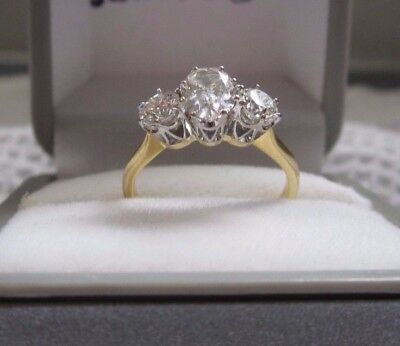 Engagement ring 18 ct yellow gold (Anton jewellery with certificate)