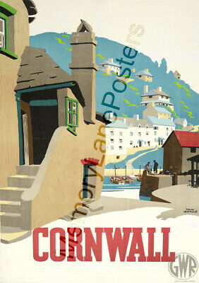 Cornwall 1 | GWR Great Western Railway | Vintage Poster | A1, A2, A3