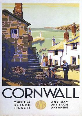 Cornwall 2 | GWR Great Western Railway | Vintage Poster | A1, A2, A3