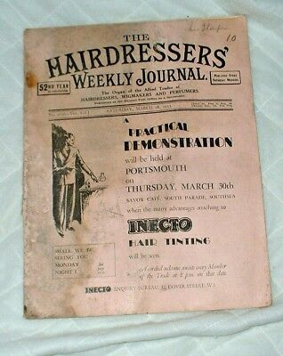 Hairdressers Weekly Journal March 18th 1933 No 2656 Vol LII.J