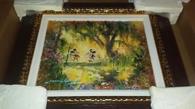 "Original James Coleman Disney Mixed Media ""Our Special Place"" on Canvas Custom"