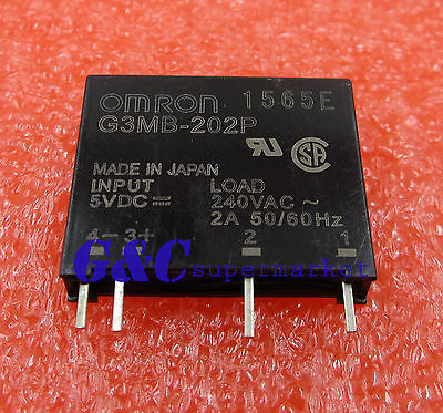 2PCS G3MB-202P DC-AC PCB SSR In 5V DC Out 240V AC 2A Solid State Relay Module