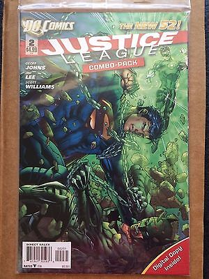 Justice League #2 New 52 digital combo pack sealed! Batman Superman FREE SHIP