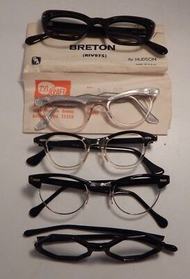 Vintage 5 Pc. Assorted DEFECTIVE Eyeglass Frame New Old Stock  #272/6
