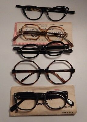Vintage 5 Pc. Assorted DEFECTIVE Eyeglass Frame New Old Stock  #272/1