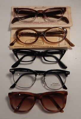 Vintage 5 Pc. Assorted DEFECTIVE Eyeglass Frame New Old Stock  #272/7