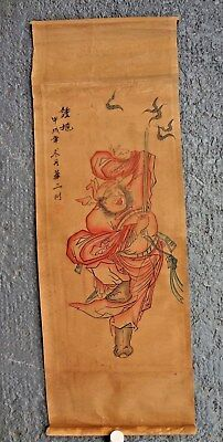 ANTIQUE, ASIAN, ORIENTAL, Chinese, Japanese Signed Hand-Painted Samurai Figure.