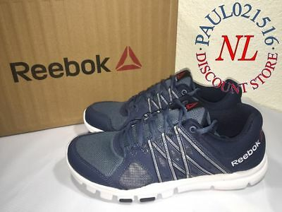 Reebok Men's Blue Yourflex Train 8.0 Running Athletic Shoes (Size 11)