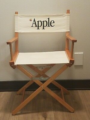 Vintage Apple Directors Chair Rare Collector's Item Wood Canvas