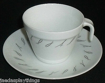 JAL Japan Airlines Cup and Saucer Set Noritake Vtg Advertising Tea Coffee