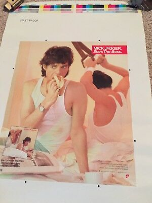 Rolling Stones Mick Jagger Poster Printer's Proof