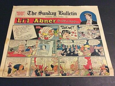 LI'L ABNER Sunday Half Page Strip By Al Capp  October 3, 1954
