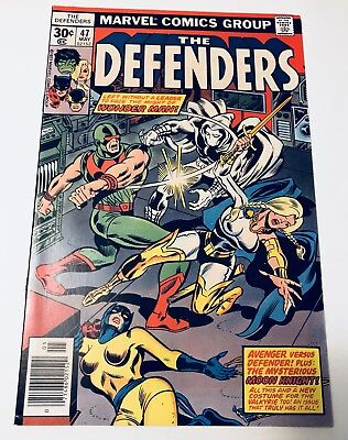 The Defenders #47. High Grade Moon Knight and Valkyrie Appearences. 1977