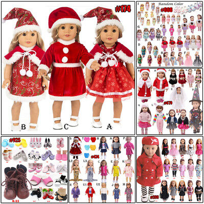 USA Doll Clothes Dress Outfits Pajames For 18 inch Doll Toy