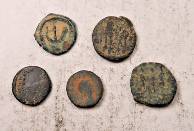 (5) Ancient Roman Coin Lot // Uncleaned W/ Details // 5 Coins (ACT43)