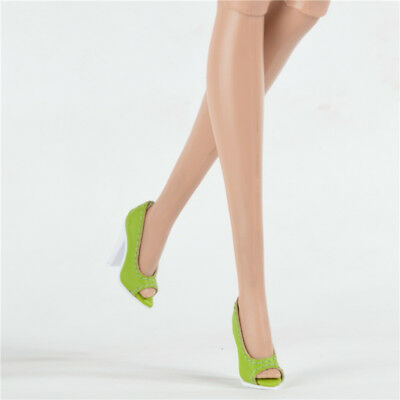 Sherry shoes for Fashion royalty Ⅱ FR2 Nu Face 2 thick heel Green 66-FR2-17B